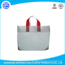 Manufacturer White Promotional HDPE Plastic Bag With Handle