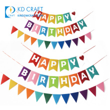 Factory supply custom colorful digital printing happy birthday party banners with own logo for sale