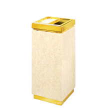 Stainless Steel Lobby Use Waste Bin with Ashtray (YW0046)