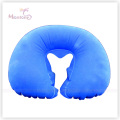 Comfortable PVC Flocking Inflatable Neck Air Pillow 40*28cm