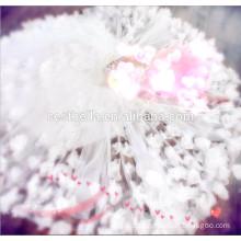 Elegant Trendy Soft Pure White Floral Princess Wedding Dress com qualidade superior