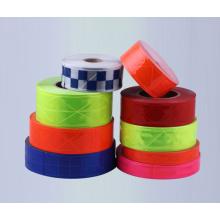 color de alta visibilidad reflectante eléctrico cinta reflexiva del PVC 200cd