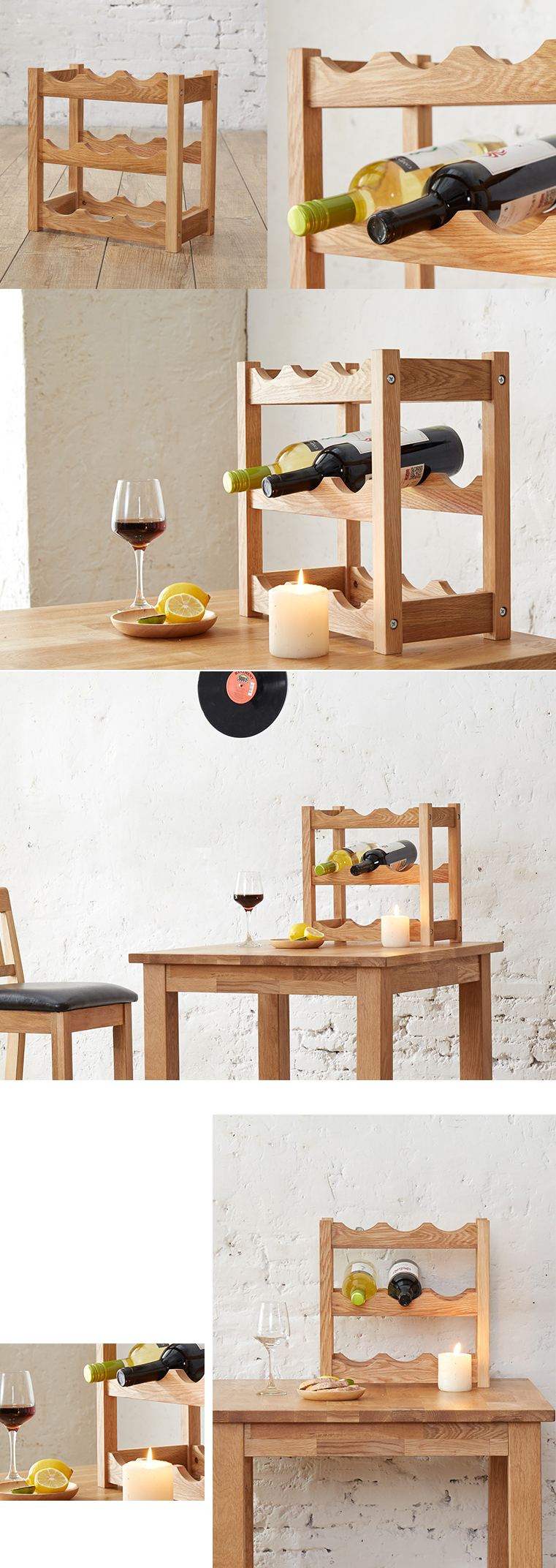 Wooden Wine Display Shelf