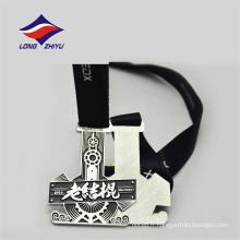Couleur argentée personnalisée Design agréable Médaille chinoise des éleveurs en couleur