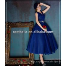Moda Feminina Reino Unido EUA Top Quality Royal Blue Evening Dress Maxi Vintage Boutique Vestido Royal Blue Celebrity Dress