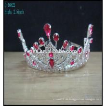 Krone geformte Hochzeit Band Tiaras Kristall Kronen Tiaras Perle und Perle Tiara Mode Tiara