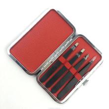 Professional free samples private label stainless steel custom eyelash extensions tweezers set