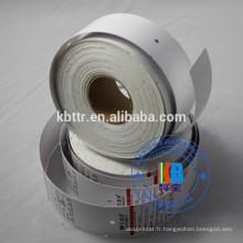 Type de vêtement étiquette volante ordre personnalisé imprimé balançoire vierge balises vierges