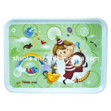100% Melamine Tableware -Kid′s Tableware Children Tray/One-Grade Melamine Tableware (pH9013)