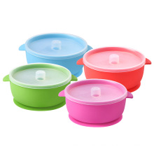 Custom Eco-friendly bowls and spoons for children to eat food grade silicone bowls for baby feeding bowls and spoons
