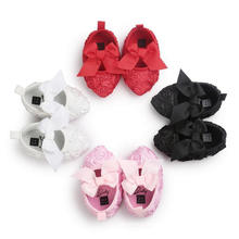 4 Color Lace Bowknot Pointed Infant Toddler Moccasins Princess Baby Shoes