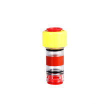 Transparent hdpe straight water union pneumatic fittings quick hose round air tube microduct gas block connectors