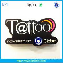 Caliente Personalizado PVC / silicio marca en forma de USB Stick (EG568)