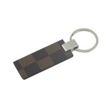 Рекламные металла PU кожаная ключевая цепочка с Брелок (F3055A)
