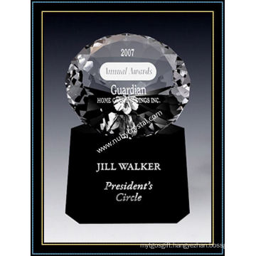 Crystal Radiance Diamond Award 6 Inch Tall
