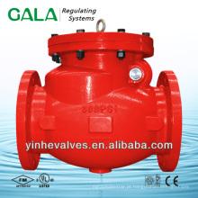 Válvula de retenção com extremidade flangeada assentada resiliente aprovada pela UL