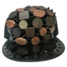 Casquettes Snapback avec cuir artificiel SD04
