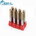 Pedazos del CNC del molino de extremo de tungsteno HRC55 HRC60 HRC65 de BFL para el MDF