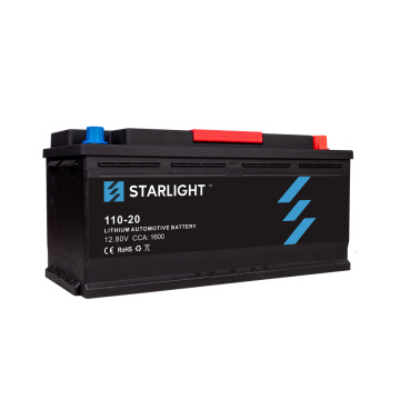 12.8V 110-20 batterie de voiture au lithium-ion / batterie LiFePO4