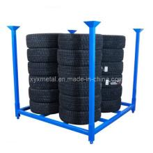 Falten 60X60 Zoll Metall PCR Reifen Reifen zusammenklappbare Stacking Storage Rack