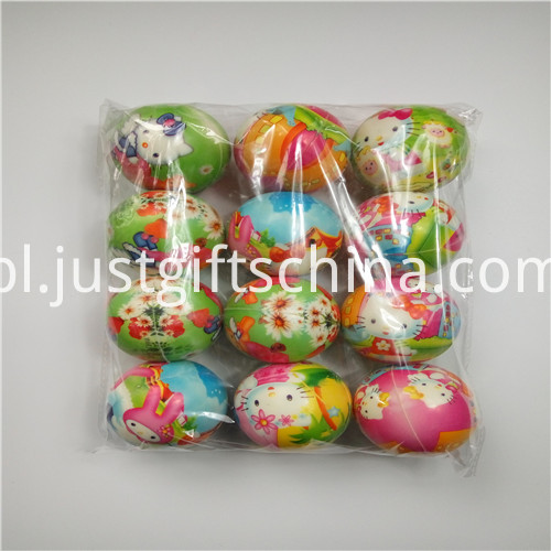 Color Printing Pu Stress Ball Keyrings