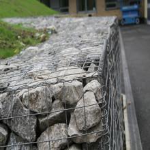 Panier galvanisé en pierre soudée en pierre