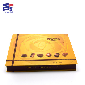 Caja de regalo de chocolate Rigid Book Shape