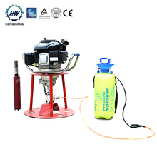 Small 30m depth man gasoline power rock drilling rig for sale