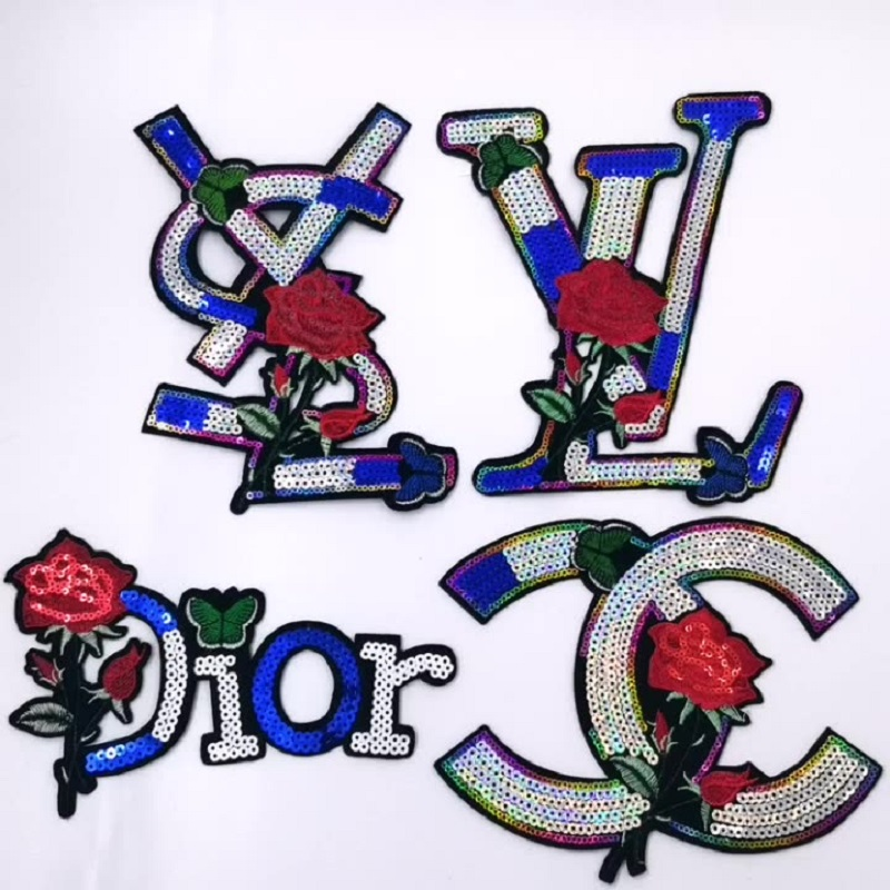 Sequin Embroidery Letter