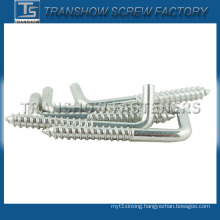 White Zinc Plated Angle Hook Screw