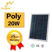 China Best PV Lieferant Solar Panel Preis von Poly Solar Panel 20W