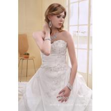 Una línea de tafetán perla de cuentas sin tirantes de largo vestido de vestir traje vestido AS00702