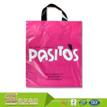 Acepte bolsos de plástico personalizados de alta / baja densidad al por mayor de la manija del lazo del fabricante