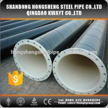 Tubo de acero soldado de carbono con brida