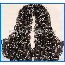 Custom Print Polyester Satin Scarf Dress