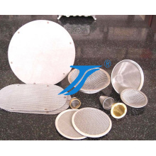 Malha de aço inoxidável largamente usada dos elementos do disco da tela do filtro