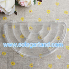 Clear Half Round Jewelry Box Plastic Storage Box 10 Slot