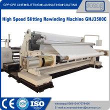 Máquina de corte e rebobinagem de tecido não tecido