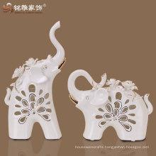 wedding gift use ceramic material cute design elephant figurines