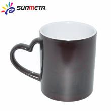 sublimation heart handle ceramic color change mug factory supply Yiwu Sunmeta