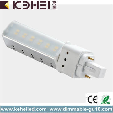 6W LED Tubos 2 Pin G24 Lámpara 3000K
