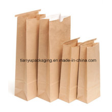 Greaseproof Stand up Brown Kraft Paper Bag for Food
