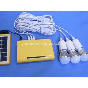 Cargador móvil extraíble Sistema de iluminación solar de CA