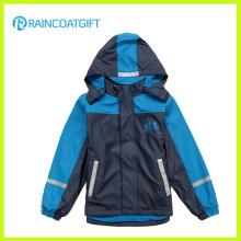 Jungen PU Ski Regenbekleidung Rum-019