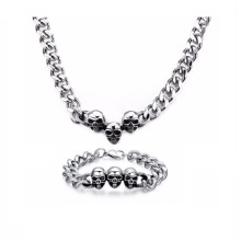 Wholesale Men Silver Chain Store Necklace Bracelet Jewelry Set
