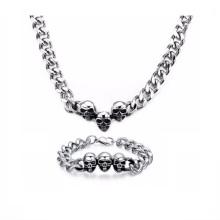 Оптом Мужские Серебряные Цепочки Магазин Ожерелье Браслет Комплект Ювелирных Изделий