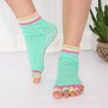 Fashion Design Cotton Toeless Open Toe Anti Skid Women Yoga Pilates Barre Socks