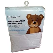 Macio 100% algodão impermeável bebê berço colchão protetor bebê equipado colchão pad