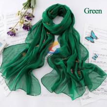 Butterfly Ladies Scarves 2015 Bohemia Fashion Style Silk Chiffon Scarf Womens Scarfs polyester Scarves