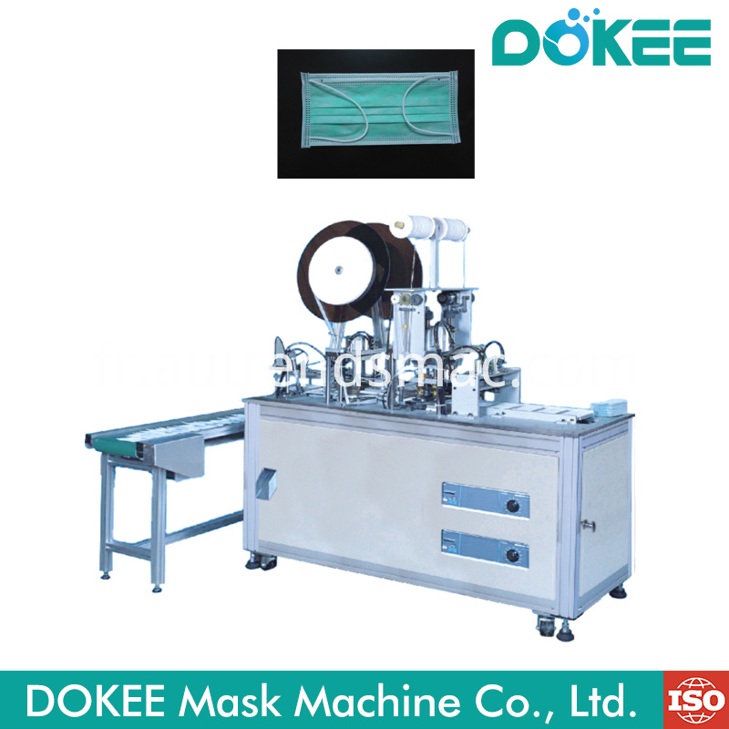 Semi Auto Inner Earloop Face Mask Welding Machine